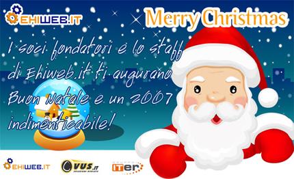 Auguri Natale e Buon anno