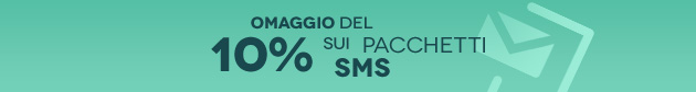 BeSMS: +10% sulle ricariche