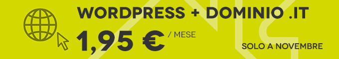 WordPress a 1,95 Euro/mese!